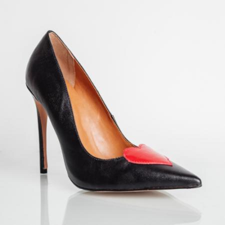 Scarpin Love Salto Fino Confort Black/Red