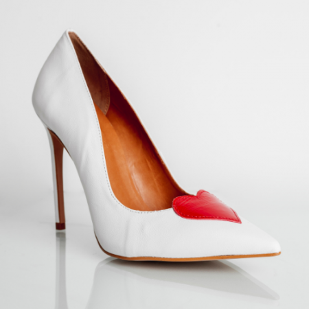 Scarpin Love Salto Fino Confort White/Red