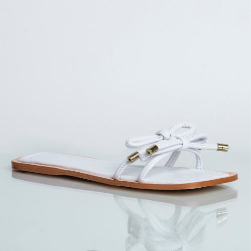 Flat Laços Quadrada Veneto White