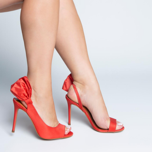 Peep Toe Laço Lateral Red