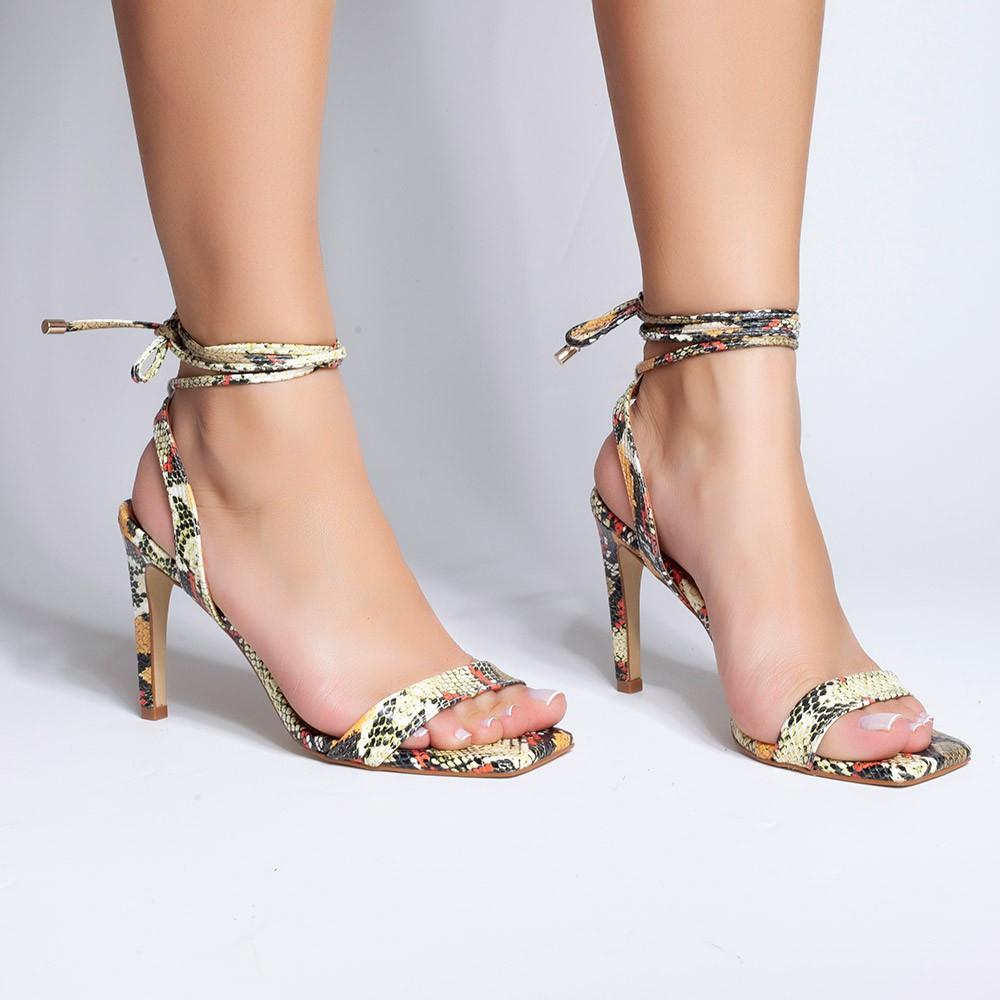 Sandália Amarração Coral Olivia