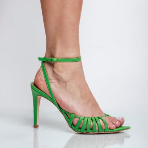 Sandália Bico Folha Veneto Green