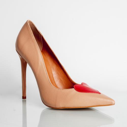 Scarpin Love Salto Fino Confort Busch/Red