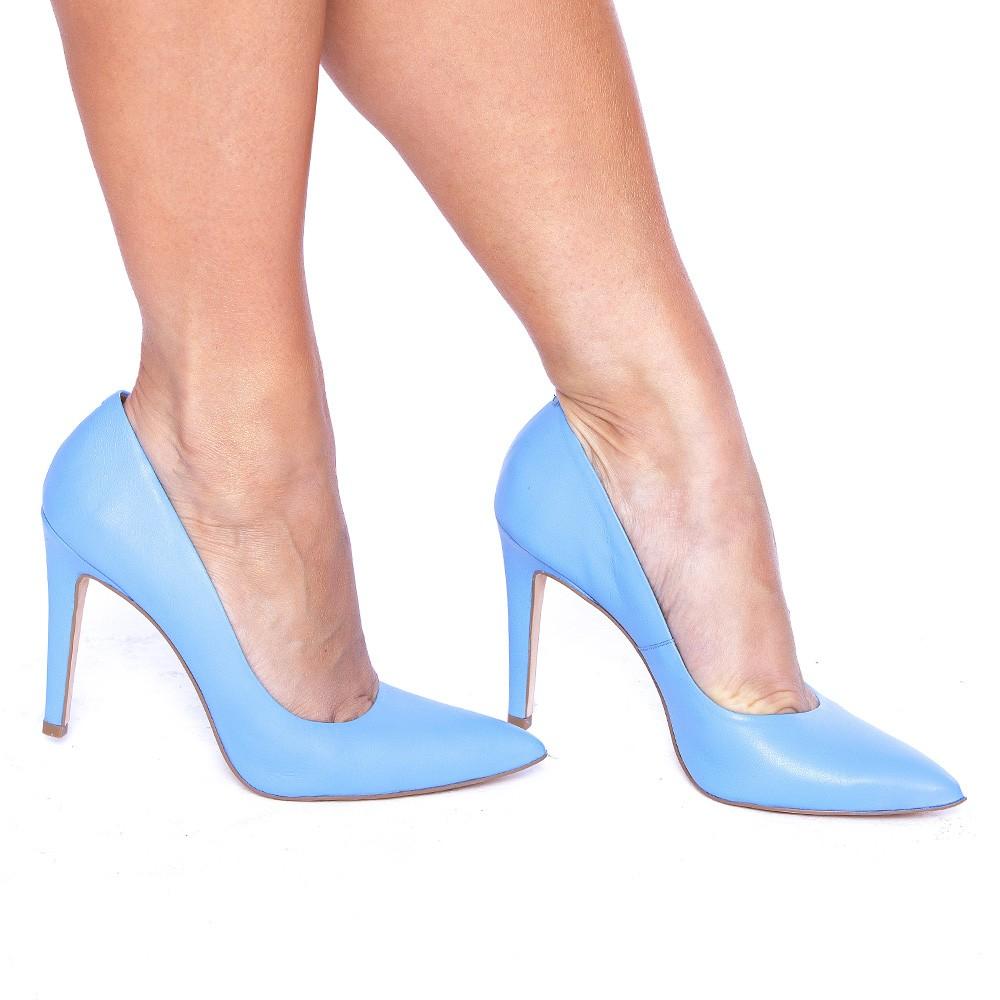 Scarpin Salto Fino Azul Fresh