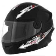 CAPACETE NEW LIBERTY FOUR KIDS INFANTIL PRETO TAM. 54