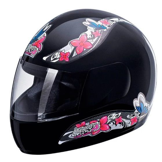CAPACETE LIBERTY FOUR FOR GIRLS PRETO TAM.56