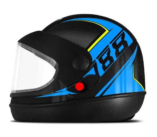 CAPACETE SUPER SPORT MOTO 2019 AZUL TAM. 56