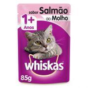 Caixa 20 un. Sachê Whiskas Salmão 85g