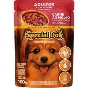 Caixa com 12 Sachê Special Dog Adultos - Raça Pequenas Carne 12 x 100g