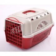 Caixa De Transporte Para Cães E Gatos Nº2 Vermelha
