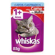 Caixa 20 un. Sache Whiskas Carne Castrado 85g