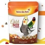 Combo com 2 Ração Mix de sementes e frutas Calopsita 500G Reino das Aves