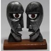 Estátua Pink Floyd - Resina Artesanal - Base Madeira 30 cm