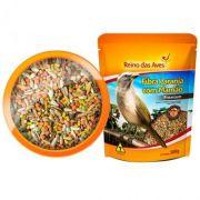 Ração para Pixarro/ Trinca-ferro Fibra sementes com  Laranja e Mamão 500g