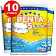 Pastilha, Barra De Cloro 5 Em 1, Com 10 Unidades