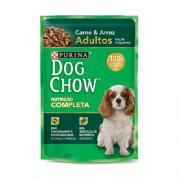 Caixa com 15 Sachê Dog Chow Purina Carne Raças Pequenas 15x100g