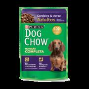 Caixa com 15 Sachê Dog Chow Purina Cordeiro Raças Pequenas 15x100g