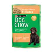 Caixa com 15 Sachê Dog Chow Purina Frango Filhotes 15x100g