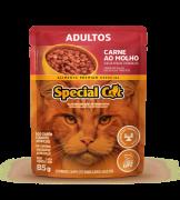 Caixa com 12 SACHÊ SPECIAL CAT ADULTOS SABOR CARNE 12 x 85g