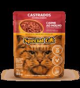 Caixa com 12 SACHÊ SPECIAL CAT CASTRADOS SABOR CARNE  12 x 85g