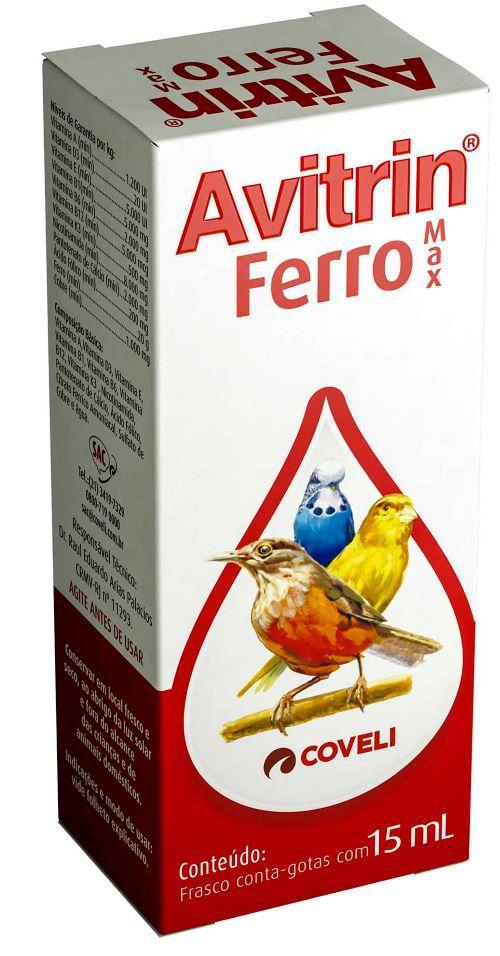 Avitrin Ferro Max 15 ml  - Onda do Pet