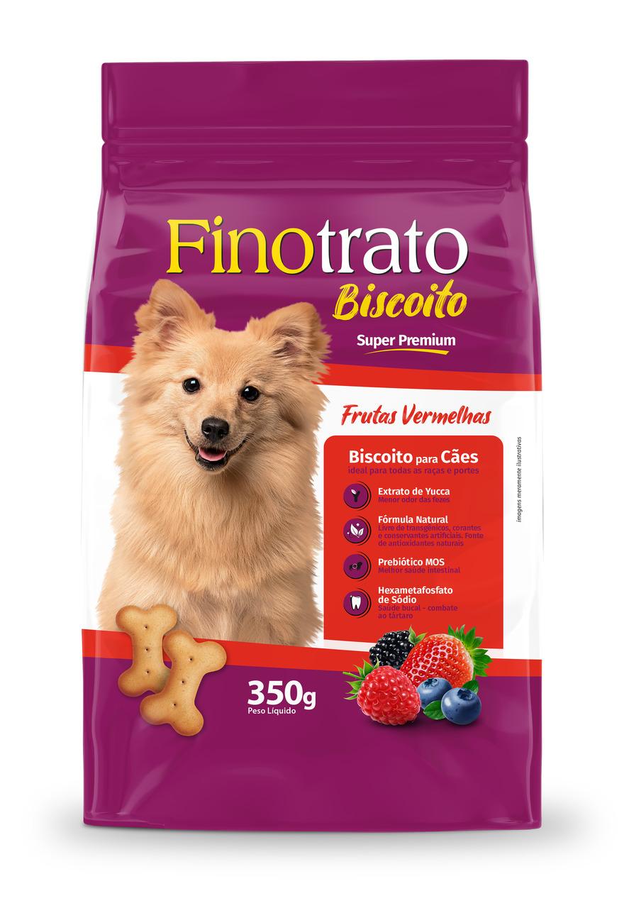 Biscoito para Cachorro Fino Trato 400g Frutas vermelhas   - Onda do Pet