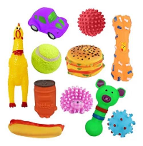 Brinquedos para cachorro filhote mordedor com 10 un