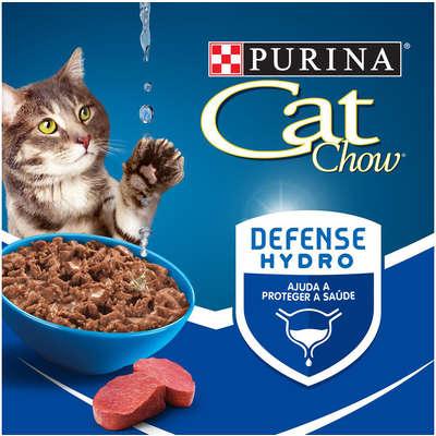 Combo com 45 Saches - Sache Cat Chow Gato Castrado Sabor Carne 85g  - Onda do Pet