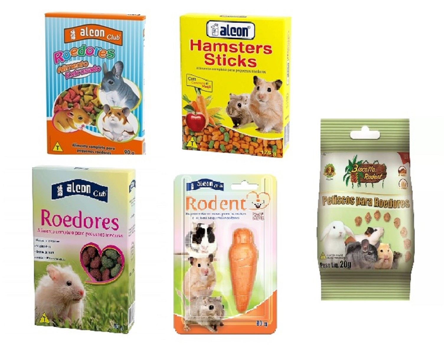 Combo Alimento para Roedores, hamster, chinchila, coelho  - Onda do Pet