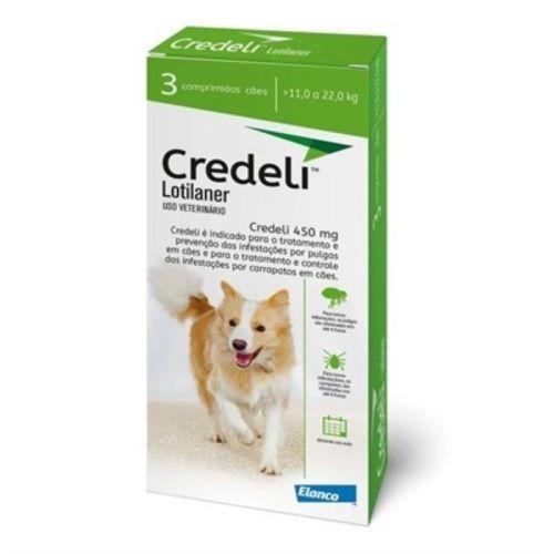 Credeli Pulgas e carrapatos cães entre 11 a 22 kg caixa com 3 comprimidos