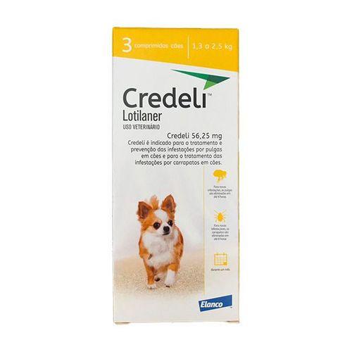 Credeli Pulgas e Carrapatos Cães entre 1,3 a 2,5 kg caixa com 3 comprimidos