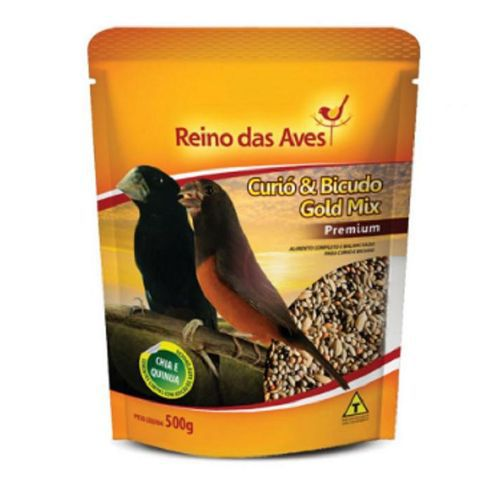 Combo com 3 Ração para Curió Gold Mix Reino das Aves 500g  - Onda do Pet