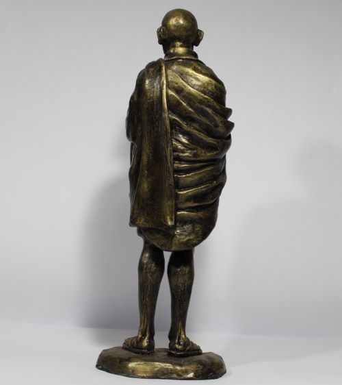 Estátua Mahatma Gandhi - Resina Artesanal  - Onda do Pet