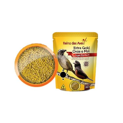 Ração para curio, canario, Coleira, Extra Gold Ovos e Mel 500g