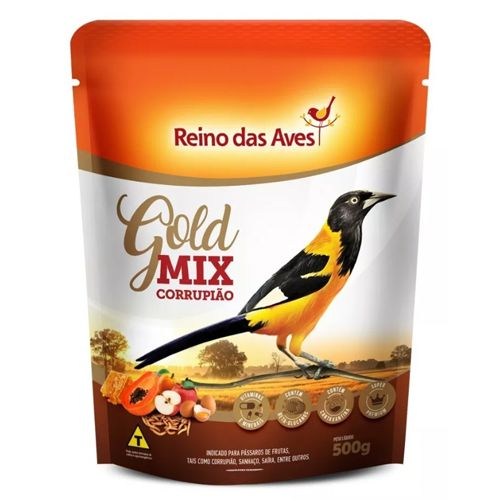 Ração Gold Mix Corrupião Reino das Aves 500g