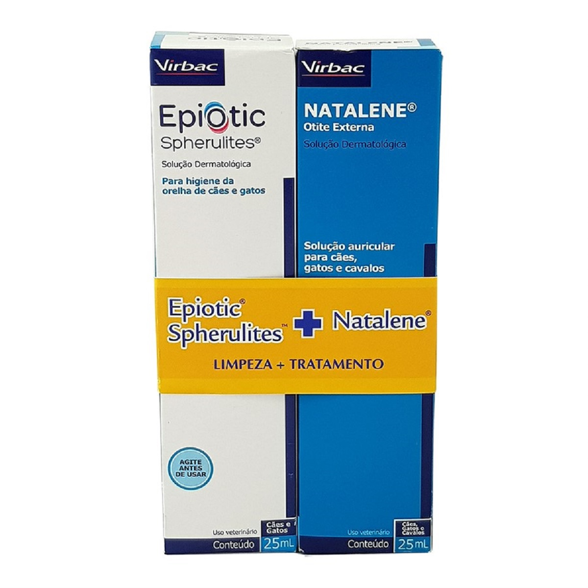kit Medicamento e limpador para Otite Natalene  Virbac 25 ml