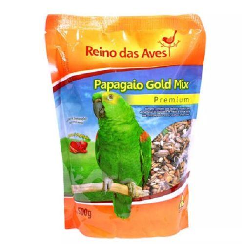 COMBO com 3 Ração para Papagaio sementes com frutas Gold Mix