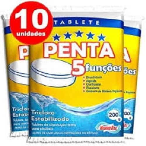 Pastilha, Barra De Cloro 5 Em 1, Com 10 Unidades  - Onda do Pet