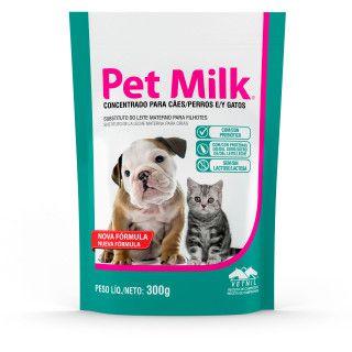 Pet Milk leite materno para filhotes de cães e gatos sache 100G
