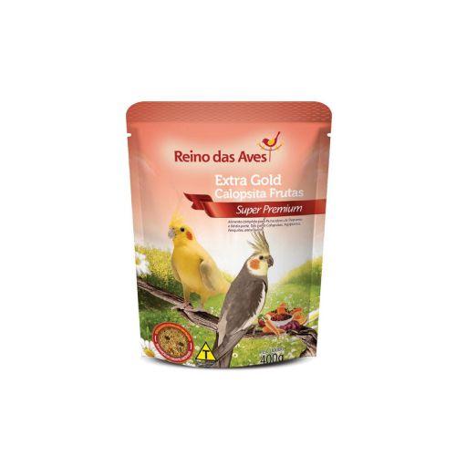 COMBO com 3 Ração Extra Gold extrusada Calopsita Frutas Reino das Aves 400g  - Onda do Pet