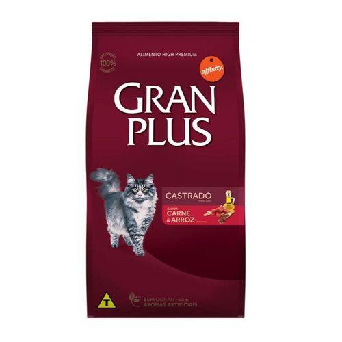 Ração GranPlus Premium Carne e Arroz para gatos castrados 10,1kg