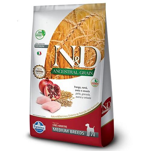 Ração N&D ND Ancestral Cães Adultos Médios Frango 10,1 Kg