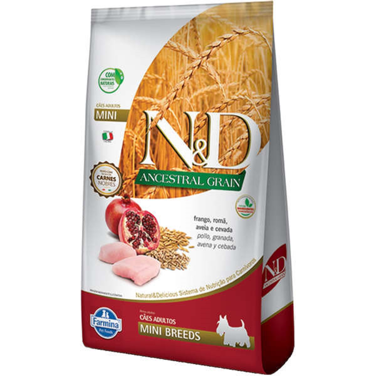 Ração N&D ND Ancestral Grain Cães Adultos Mini Frango 2,5 Kg  - Onda do Pet