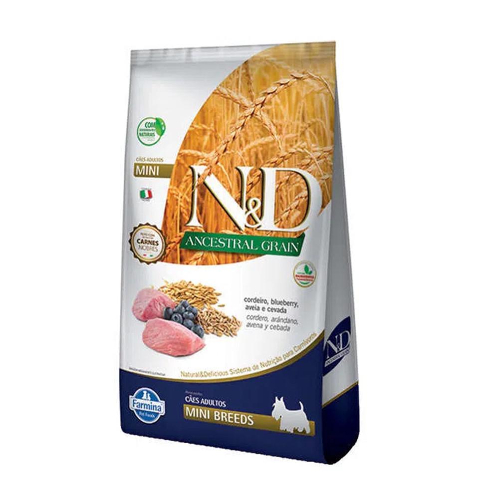Ração N&D ND Farmina Sabor Cordeiro e Blueberry p/ Cães Adultos 10,1kg  - Onda do Pet