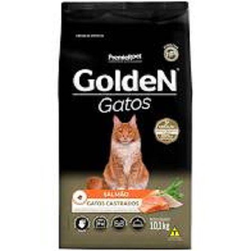 Ração para Gatos Castrados Golden Salmão 10kg