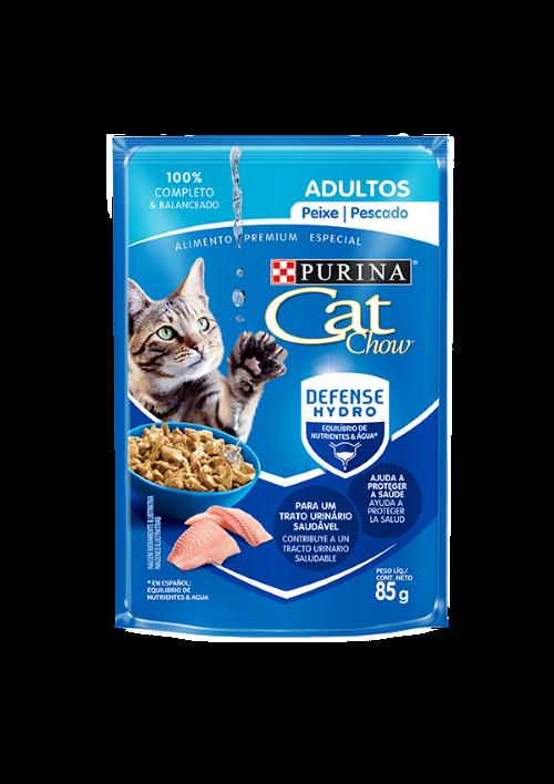 Caixa com 15 Sachê Cat Chow Purina Peixe 15 x 85g  - Onda do Pet