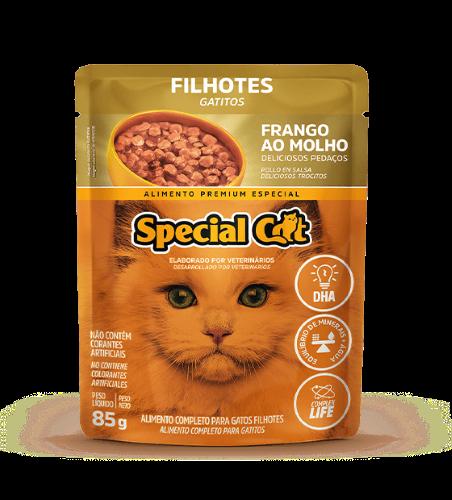 Caixa com 12 SACHÊ SPECIAL CAT FILHOTES SABOR FRANGO 12 x 85g