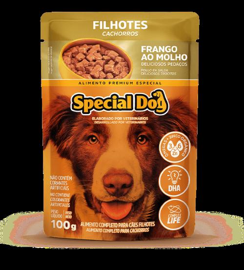 Caixa com 12 Sachê Special Dog Filhotes Sabor Frango 12 x 100g