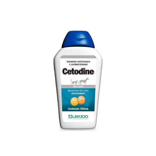 Shampoo Antisseptico Cetodine Lavizoo 500ml  - Onda do Pet