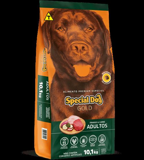 Special Dog Gold 15 kg ração cães adultos com Batata doce  - Onda do Pet